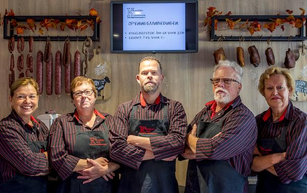 Peer van Kemenade in de slagerij