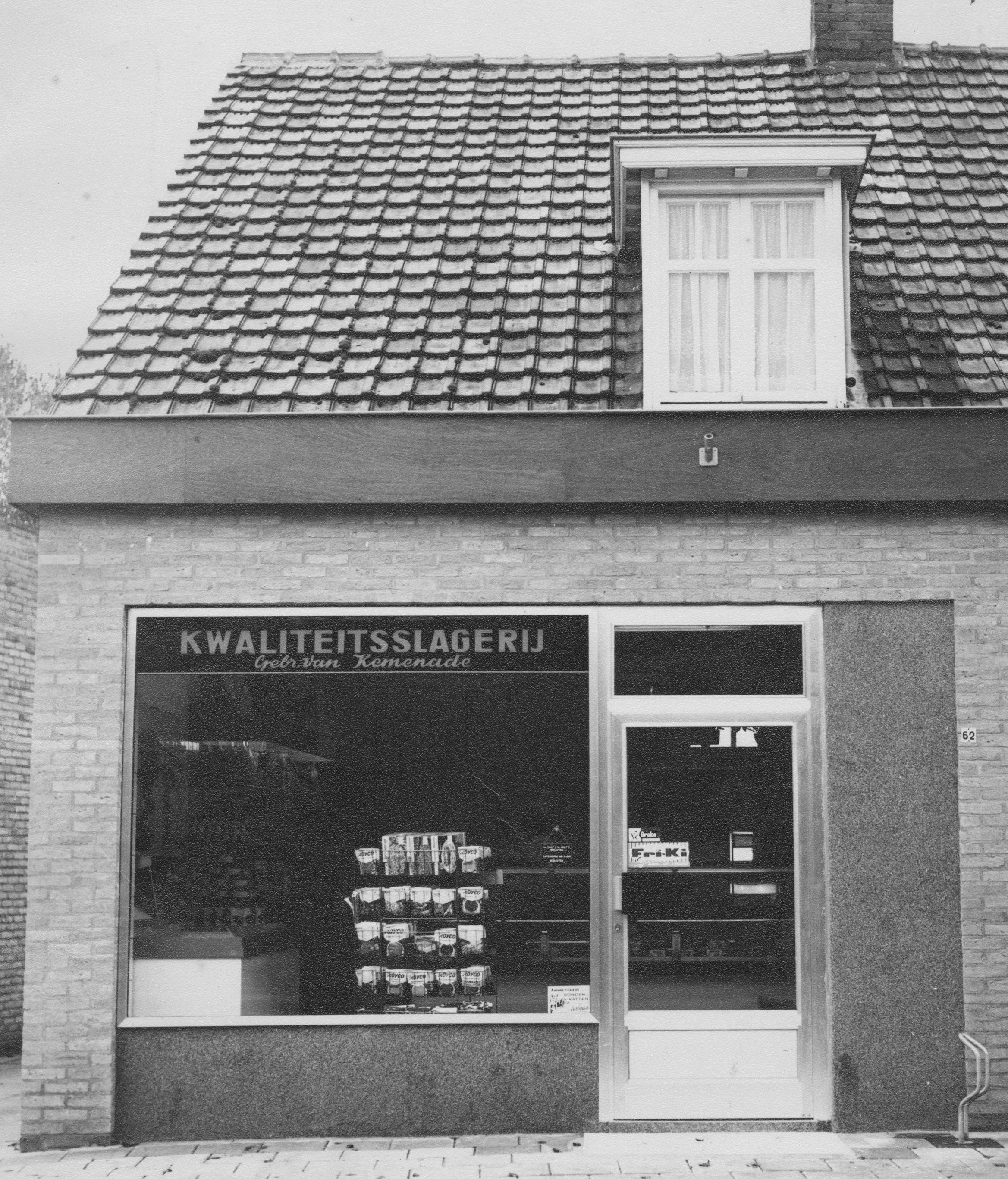 De oude winkel van Slagerij van kemenade